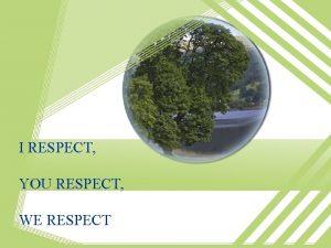 I RESPECT YOU RESPECT WE RESPECT UDINUS Entrepreneur