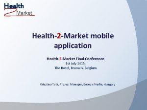 Health Market Health2 Market mobile application Health2 Market