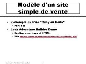 Modle dun site simple de vente Lexemple du