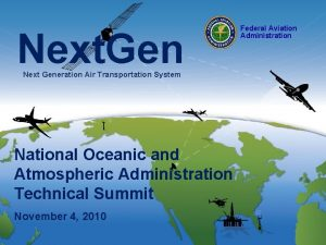 Next Gen Next Generation Air Transportation System National