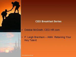 CEO Breakfast Series Debbie Mc Grath CEO HR