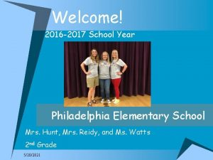 Welcome 2016 2017 School Year Philadelphia Elementary School
