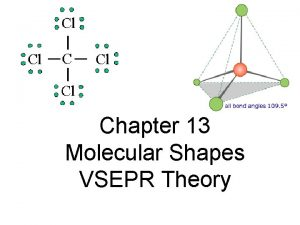 Chapter 13 Molecular Shapes VSEPR Theory Molecular Shape