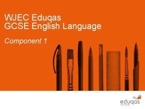 WJEC Eduqas GCSE English Language Component 1 Component