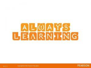Ch 8 1 Copyright 2011 Pearson Education Strategic