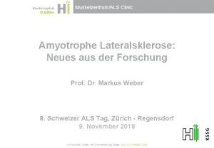 MuskelzentrumALS Clinic Amyotrophe Lateralsklerose Neues aus der Forschung