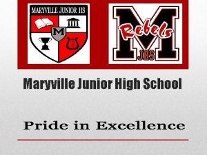 Maryville Junior High School Welcome Lisa Mc Ginley