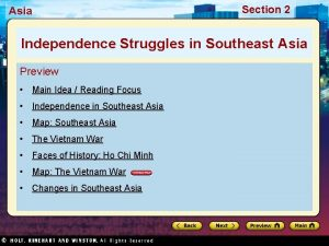 Asia Section 2 Independence Struggles in Southeast Asia