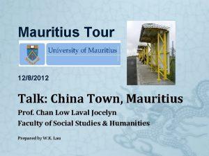 Mauritius Tour 1282012 Talk China Town Mauritius Prof