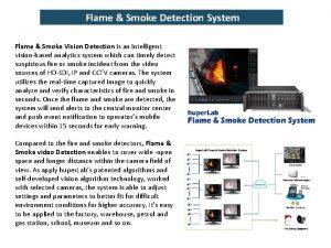 Flame Smoke Detection System Flame Smoke Vision Detection