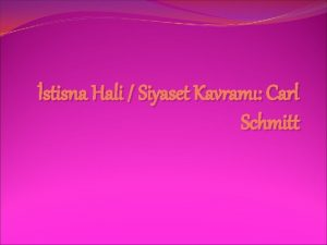 stisna Hali Siyaset Kavram Carl Schmitt Carl Schmitt