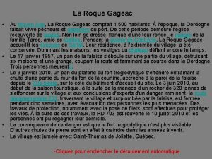 La Roque Gageac Au Moyen ge La Roque