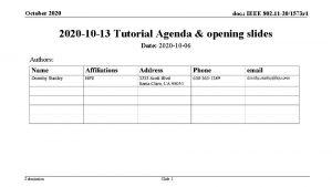 October 2020 doc IEEE 802 11 201573 r
