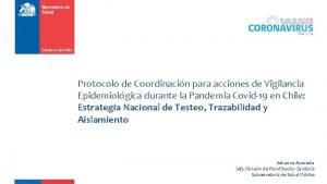 Protocolo de Coordinacin para acciones de Vigilancia Epidemiolgica
