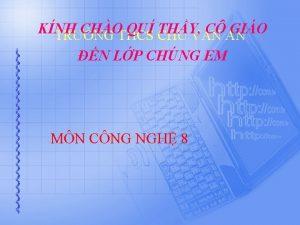 KNH CHO QU THY C GIO TRNG THCS