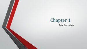 Chapter 1 Data Everywhere Data Everywhere All slides