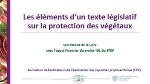 Les lments dun texte lgislatif sur la protection