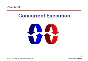 Chapter 3 Concurrent Execution 1 2015 Concurrency concurrent