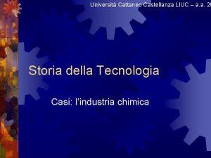 Universit Cattaneo Castellanza LIUC a a 20 Storia