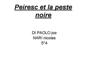 Peiresc et la peste noire DI PAOLO joe