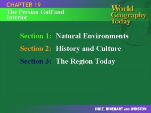 CHAPTER 19 The Persian Gulf and Interior Section
