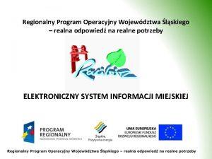 Regionalny Program Operacyjny Wojewdztwa lskiego realna odpowied na