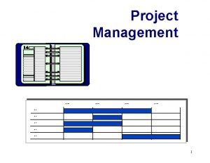 Project Management Type period Type task Type task