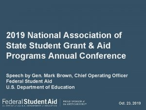 2019 National Association of State Student Grant Aid