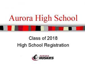 Aurora High School Class of 2018 High School