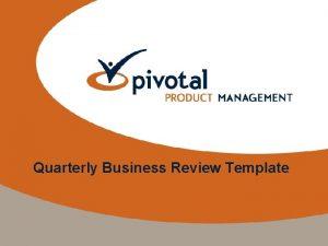 Quarterly Business Review Template Quarterly Business Review Presentation
