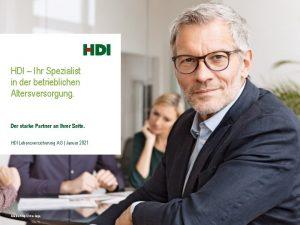 HDI Ihr Spezialist in der betrieblichen Altersversorgung Der