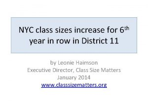 NYC class sizes increase for 6 th year