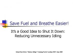 Save Fuel and Breathe Easier Its a Good