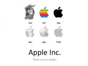 Apple Inc Byte into an Apple The founders