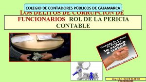 COLEGIO DE CONTADORES PBLICOS DE CAJAMARCA LOS DELITOS