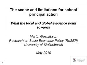 The scope and limitations for school principal action