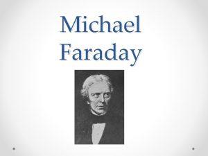 Michael Faraday Zaiatok kariry 22 september 1791 25