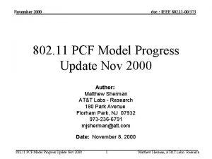 November 2000 doc IEEE 802 11 00373 802