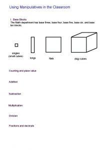 Using Manipulatives in the Classroom I Base Blocks