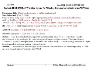Oct 2004 doc IEEE 802 15 04 0575