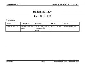 November 2013 doc IEEE 802 11 131341 r