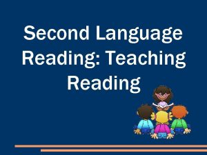 Second Language Reading Teaching Reading OUTLINE 1 Reading