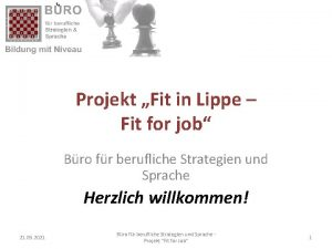 Projekt Fit in Lippe Fit for job Bro
