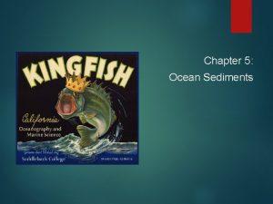 Chapter 5 Ocean Sediments Chapter 5 Topics Sediments
