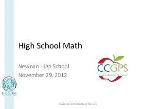 High School Math Newnan High School November 29