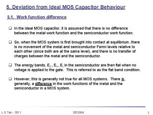 5 Deviation from Ideal MOS Capacitor Behaviour 5