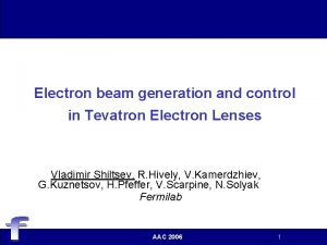 Electron beam generation and control in Tevatron Electron