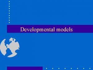 Developmental models Multivariate analysis choleski models factor models