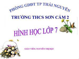 TRNG THCS SN CM 2 GIO VIN NGUYN