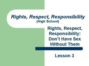 Rights Respect Responsibility High School Rights Respect Responsibility